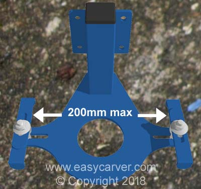 Adjustable width router plate