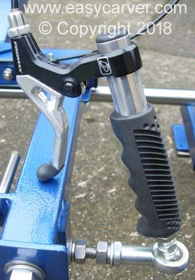 Movable brake lever