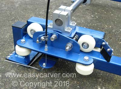 Easy Carver anti-kickback braking system