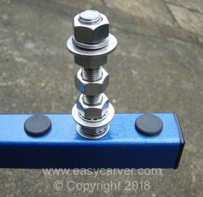 Adjustable counterbalance weight shaft