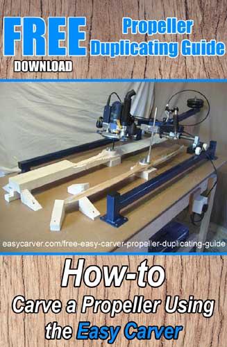easy carver propeller duplicating guide